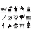 black election icons set vector image vector image