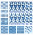 blue seaml set 3 380 vector image vector image