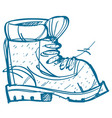 boot climber hiking climbing traveling sketch vector image vector image