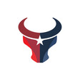 bull head and star vector image vector image