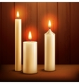 Candles realistic background vector image