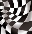 checkered flap vector image vector image