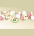 christmas sale xmas background with vector image