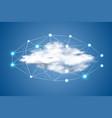 cloud computing with dots big data vector image