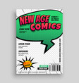 comic book page cover template design vector image vector image