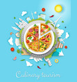 culinary tourism poster banner template vector image vector image