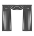 Curtains on a white background Silhouette vector image vector image