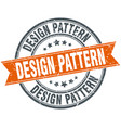 design pattern round grunge ribbon stamp vector image vector image