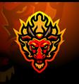 dragon mascot esport logo design vector image vector image