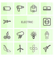 electric icons vector image vector image