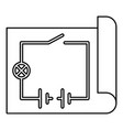 electric scheme icon outline style vector image