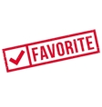 Favorite rubber stamp vector image vector image