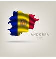Flag of andorra as a country with shadow vector image vector image