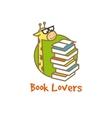 funny giraffe logotype Book store logo vector image vector image