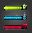 game resource bar vector image