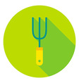 Garden Fork Tool Circle Icon vector image