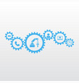 gears with icons marketing mechanism concept vector image vector image