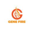gene logo designs vector image