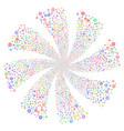 globe fireworks swirl flower vector image vector image