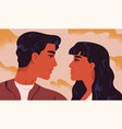 happy adorable couple in love portrait young vector image vector image