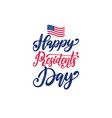 happy presidents day sale handwritten phrase in vector image