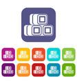 hay bundles icons set vector image vector image