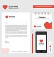 heart business letterhead calendar 2019 and vector image vector image