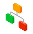 hierarchy network 3d icon vector image vector image