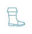 hiking boots linear icon concept hiking boots vector image vector image