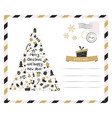 holiday card with christmas tree vector image