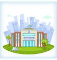 hospital concept cartoon style vector image