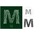 leaves alphabet letter m vector image vector image
