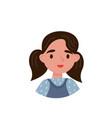 lovely brunette girl avatar of cute little kid vector image vector image