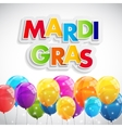 Mardi Gras Party Holiday Poster Background vector image vector image