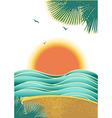 Nature tropical seascape background with sunlight vector image vector image