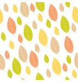 ornamental seamless pattern with leaves vector image vector image