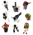 People sitting top view set 4 vector image vector image
