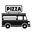 pizza truck icon simple style vector image vector image