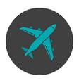 plane glyph color icon vector image