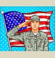 pop art for a memorial day vector image