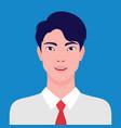 portrait an asian businessman smiling vector image vector image