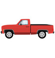 powerful red modern pick-up truck vector image