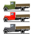 retro lorry isolated vector image vector image