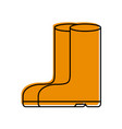 rubber boots isolated icon vector image vector image