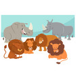 safari animal characters cartoon vector image vector image