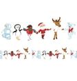 Seamless pattern brush with traditional Christmas vector image vector image
