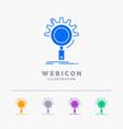 seo search optimization process setting 5 color vector image