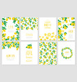 set banners lemon vector image vector image