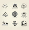 set concept badge vector image vector image