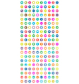 Set of 200 universal icons vector image vector image